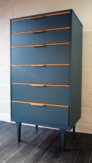 Vintage Mid Century Frank Guille Austinsuite Chest of Drawers Danish Style Retro