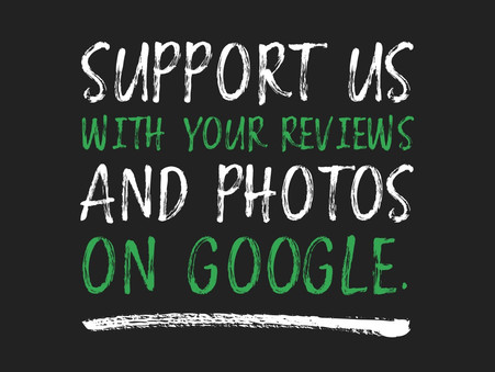 Share a Review on Google, or Tag Us in Photos on Social Media