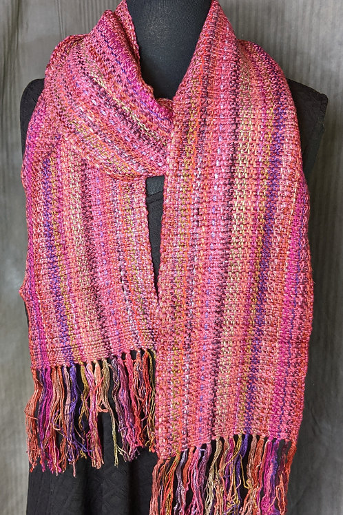 Multi Colored Red Scarf