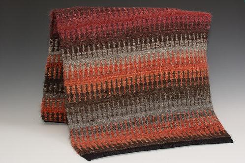 Handspun and hand dyed wool rug