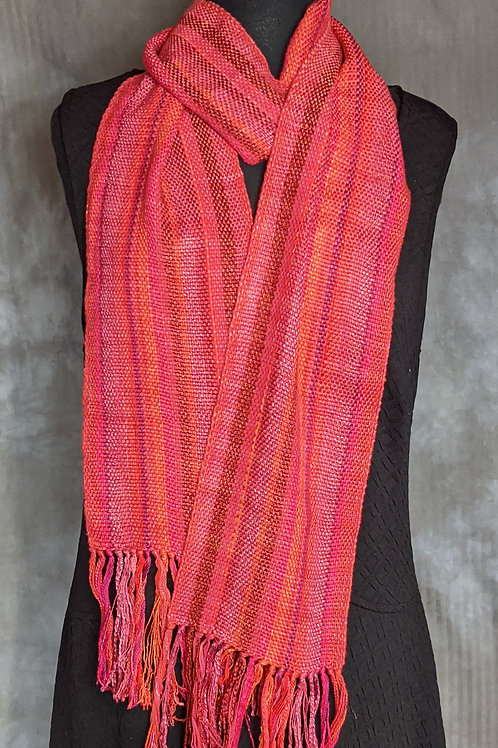 Scarf in Reds