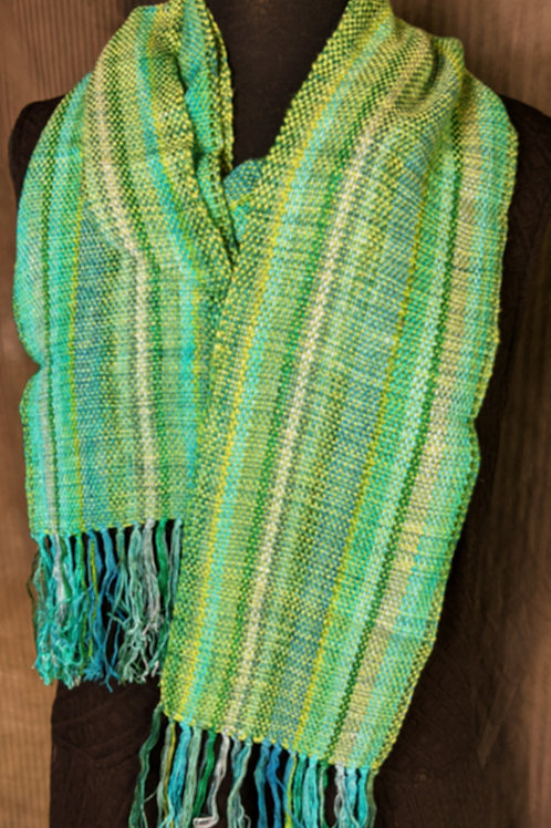 Multi Colored Green Scarf