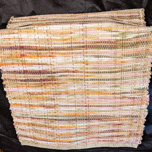 Towel Rug in rusts
