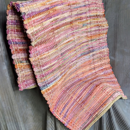 Rag rugs in pastels