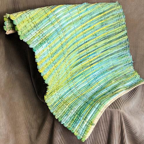 Rag rug in greens