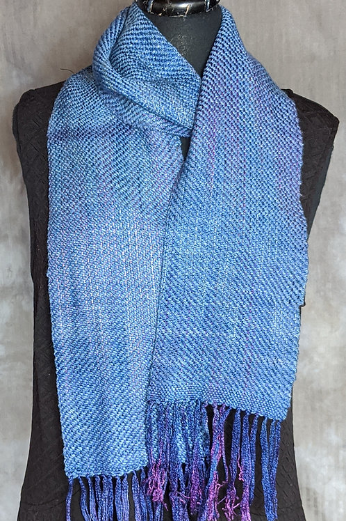 Silk and Cashmere Scarf in Purples