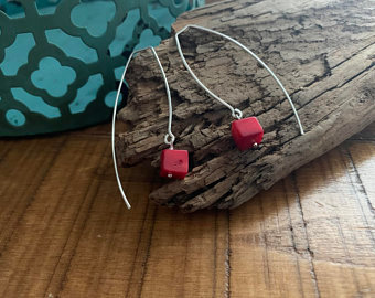 STACEY Sterling Coral Threaders