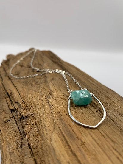 KATHERINE Amazonite Dewdrop Necklace