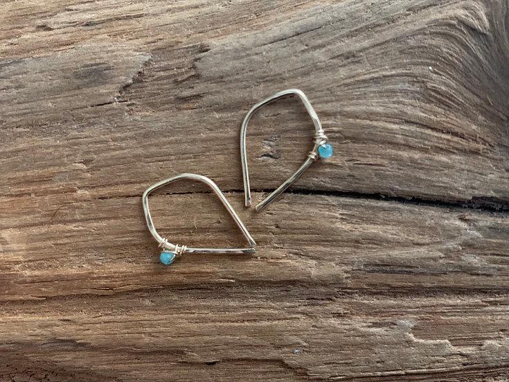 GABY Amazonite Tiny Dewdrop Unisex Threaders