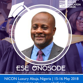 News: Ese Onosode To Speak at National Higher Education Forum 2018