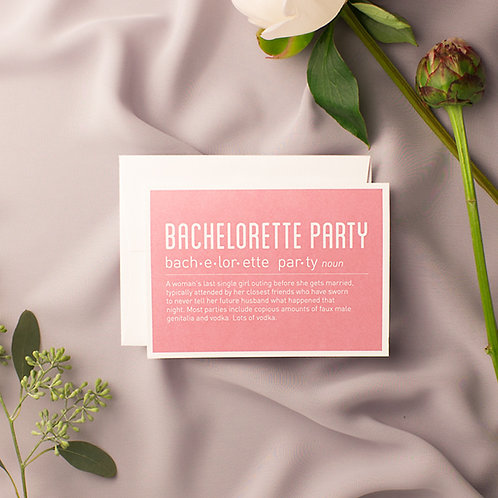 8 Bachelorette Party Cards