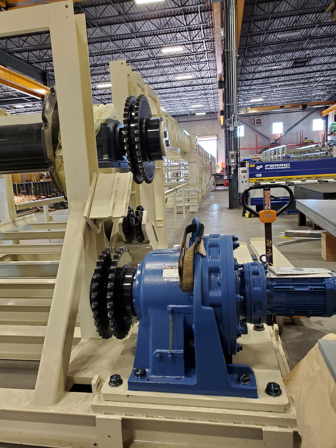 300ft. Long Slat Conveyor: Designed, Fabricating & to be Installed For Moving Cars