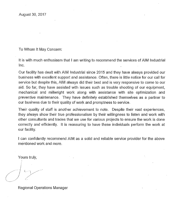 It's letters like this that are an honored bonus to what we do day in-day out.  For more informa