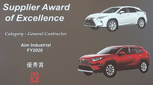 Honored with 2020 Award from Toyota Canada