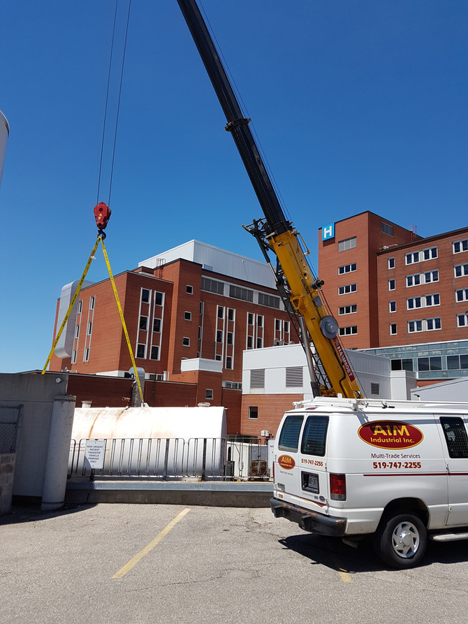 Grand River Hospital tank replacement