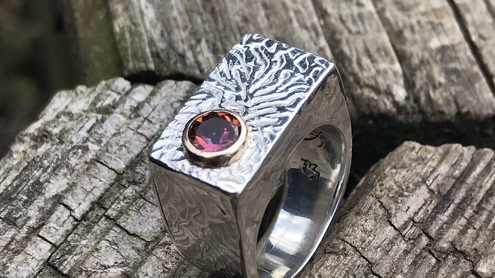 Mystic Topaz Hollowform Ring