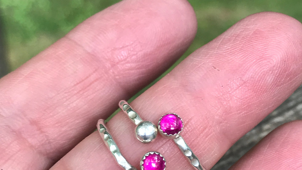 Adjustable rings! Variety of stones, totally stackable!
