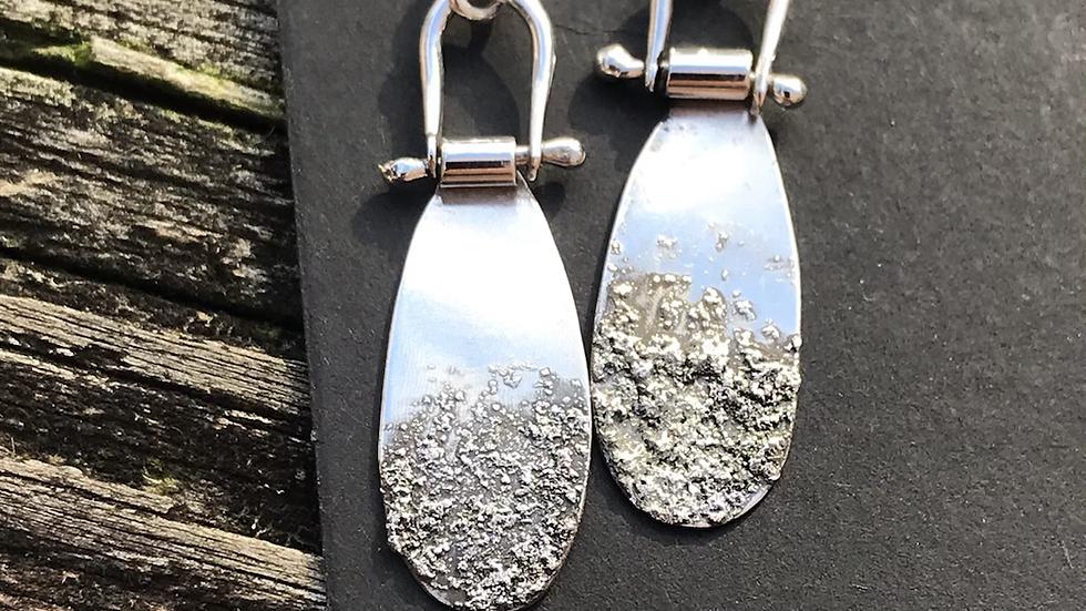 Silver Fused Hinge Earrings