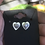 Thumbnail: Mask Friendly Heart Earrings