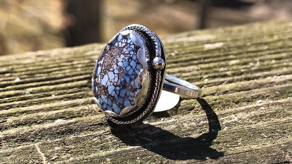 Spiderweb Turquoise ring
