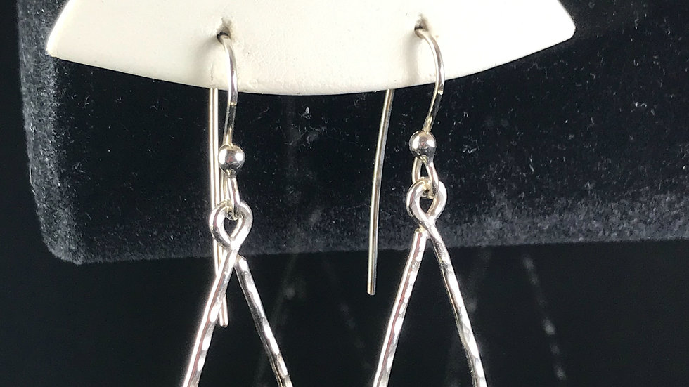 Argentium Triangle Earrings
