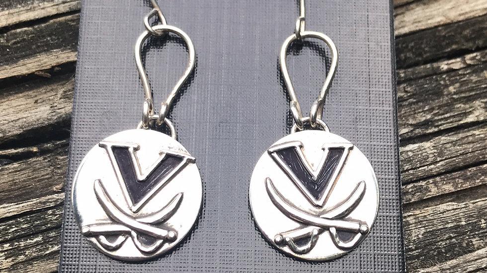 Virginia Cavaliers in Argentium Silver