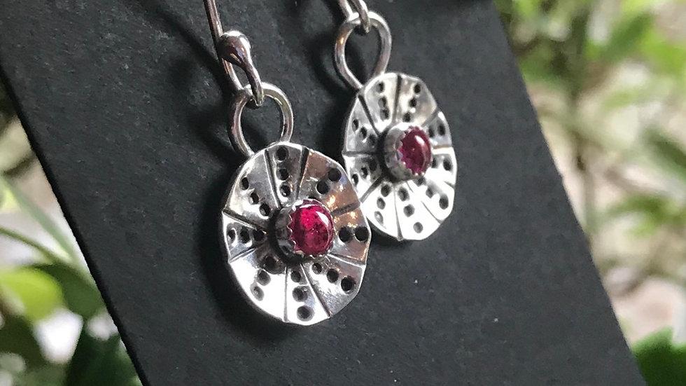 Beautiful Argentium, Ruby Earrings