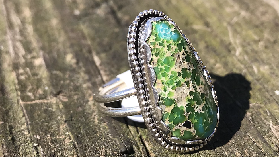 Mexican green Turquoise ring