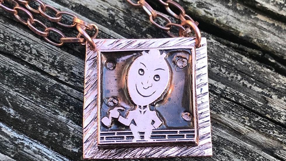Vintage Copper Linocast Image