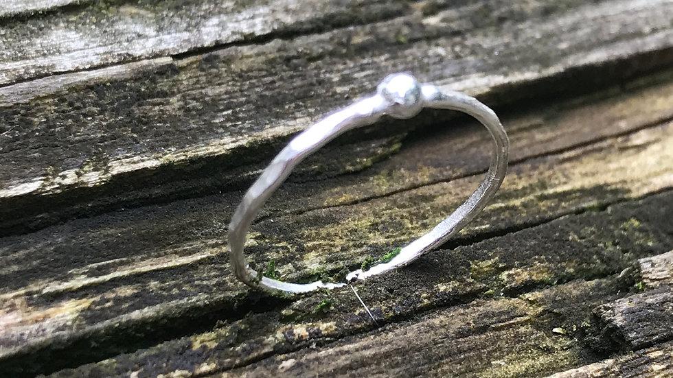 Tiny Argentium ring
