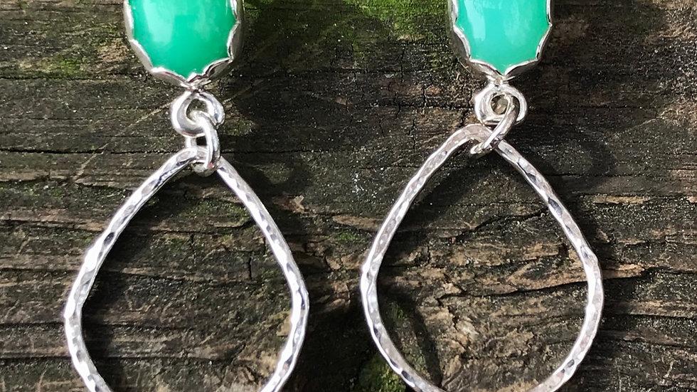 Beautiful Chrysoprase Earrings