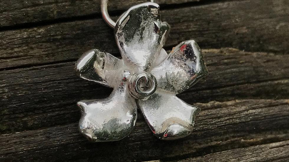 Argentium Freeform Flower #5