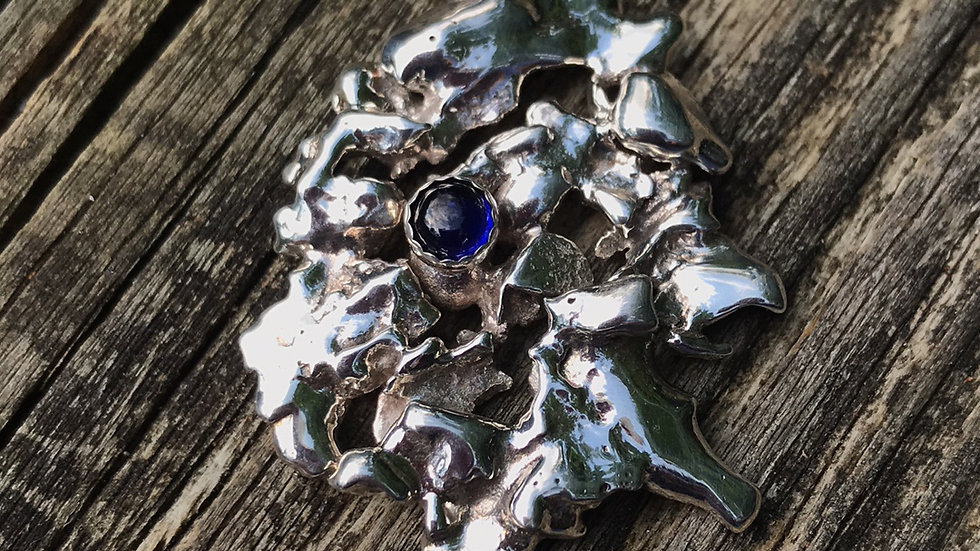 Argentium Sterling with mm Sapphire
