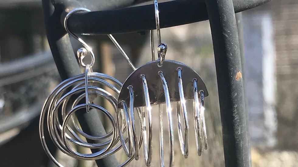 Argentium 935 Silver 3D Earrings
