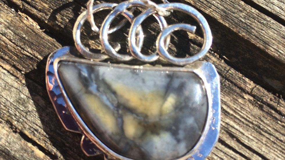Unknown Agate set in Argentium Silver
