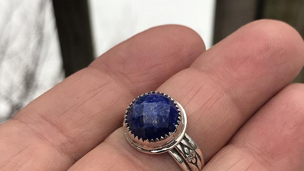Rosecut Lapis Ring