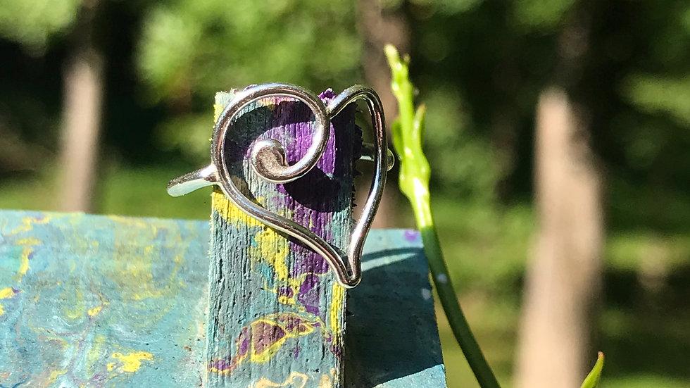 Argentium Sterling Heart Ring