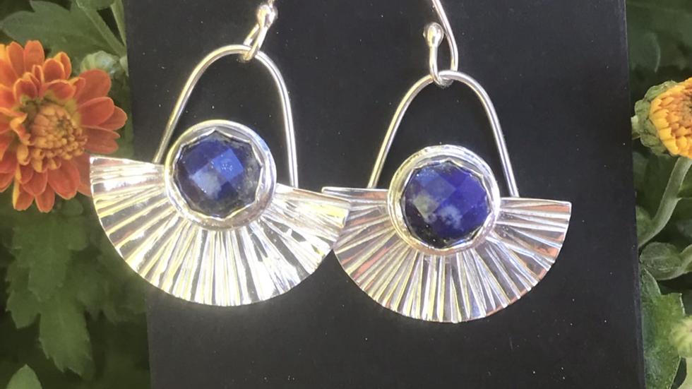 Lapis Lazuli Fine Silver Earrings