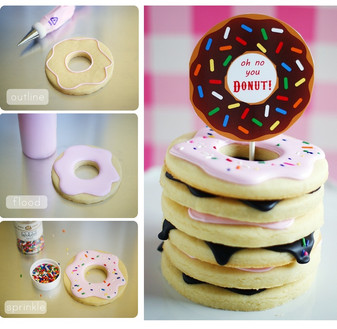 Steps to make a Donut Cookie