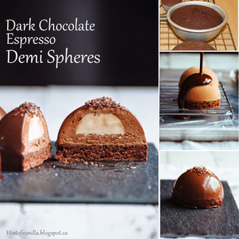 Dark Chocolate and Espresso Demi Spheres