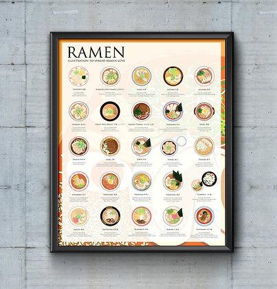 The Ramen Poster, by Fanny Chu (16x20)