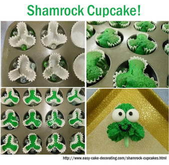 Shamrock Cupcake Easy DIY for St. Patrick's Day!