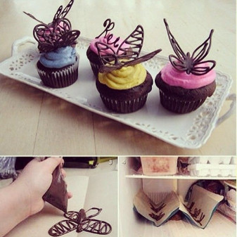Make your Chocolate Butterfly