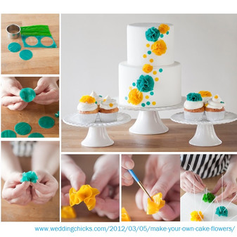 Cake Flower Decoration from Fruit Roll-up