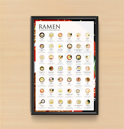 The Ramen Poster 2.0, by Fanny Chu (24x36)