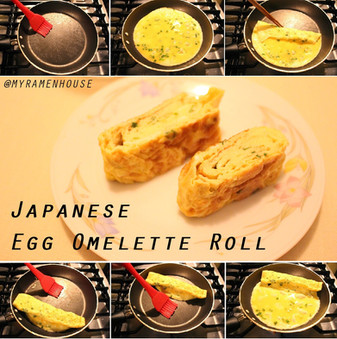 Japanese Egg Omelette Roll