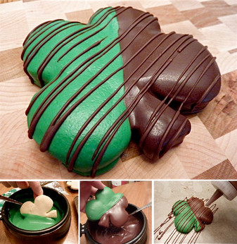St. Patrick's Chocolate Covered Four-Leaf Clover Shortbread Cookies