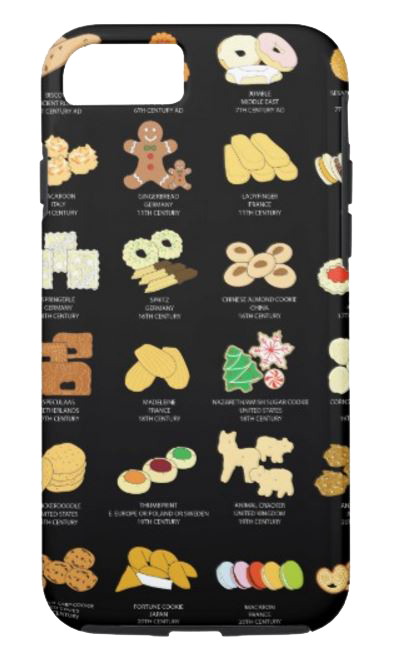 Cookie Phone Case, BLACK