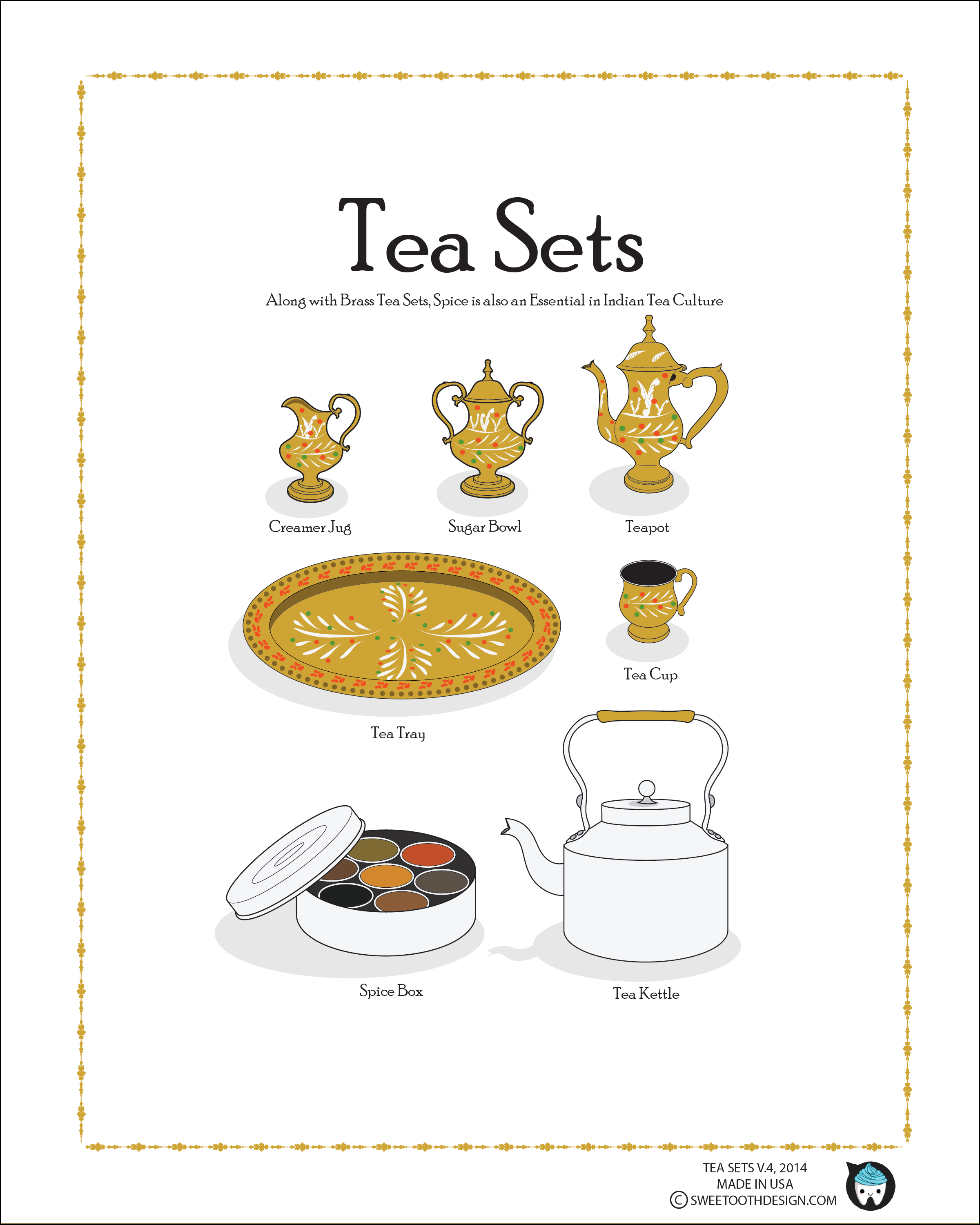 Tea Sets, Indian