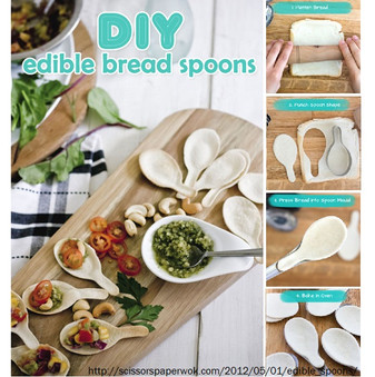 Edible Spoons for Appetizers